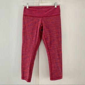 LULULEMON red pink capris leggings 6